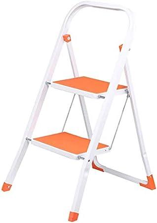 LADDER Escalera de escalera Escalera Taburete de hierro y acero Escalera pequeña de 2 escalones Escalera plegable de interior Escalera de escalera multifunción,naranja: Amazon.es: Bricolaje y herramientas