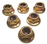 Serval Products 3/8-16 Nylon Insert Hex Flange Lock Nut Grade 8 Zinc Yellow-Chromate Plated (Pack of 50)