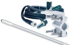 RoadPro RPPS-13KW Platinum Series White 3 1000W Single Mirror Mount CB Antenna Kit