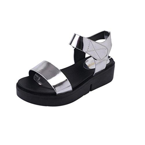 Winwintom Mujeres del verano Casual zapatos planos Toe Roman sandalias flip flops Sandal calzado plate