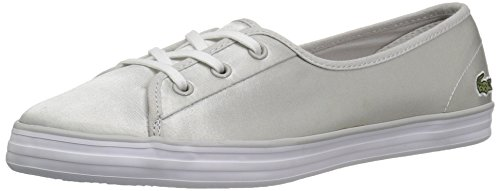 Lacoste Womens Ziane Chunky 118 2 Caw Light Grey/White Textile
