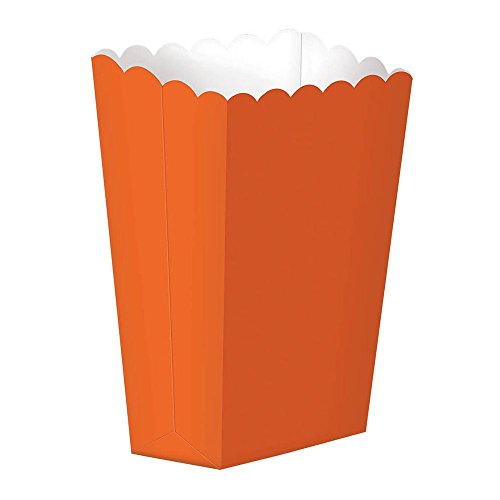 Party Ready Large Popcorn Favour Box, Orange Peel, Paper, 7