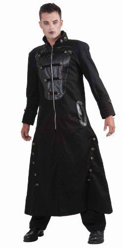 Forum Novelties Men's Shadow Walker Trench Coat Adult Costume, Black, Standard