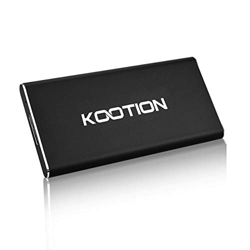 KOOTION X1 128GB External SSD USB 3.0 Portable Solid State Drive, Black by KOOTION
