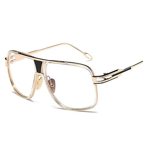 B Gafas Unisex para Sol Gafas Metal Sol Montura Gafas Vintage Ligero Transparente UV400 Lente Retro Fliegend Súper Polarizadas Hombre de de Espejo Mujer de con I7vdEnxSw
