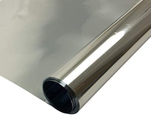 Decocar マジックミラー 窓フィルム 全8種 外から見えない めかくしシート ガラス断熱フィルム 窓ガラスフィルム 紫外線カット 飛散防止 幅152*300cm