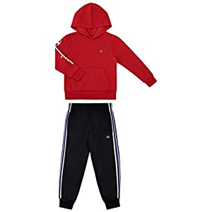 Best Epic Trends 31KROjuVMYL._SS300_ Champion Boys Two Piece Athletic Fleece Top Tricot Bottom Set Kids Clothes