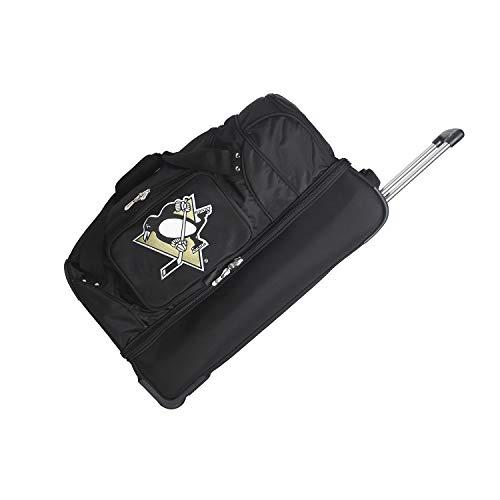 NHL Pittsburgh Penguins Rolling Drop-Bottom Duffel Bag, 27 x 16 x 14, Black