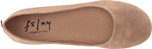 Sole on Shoes Suede Metallic Zeppa Women's French Caramel Slip I6nxUffwa