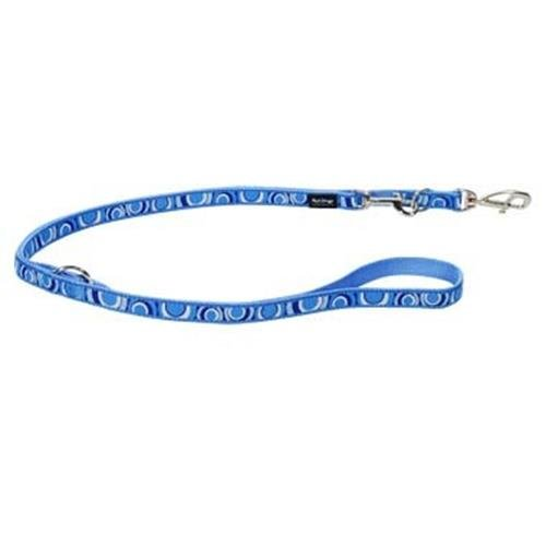 Red Dingo Circadelic Blue multi-purpose dog leash 6,5ft Large