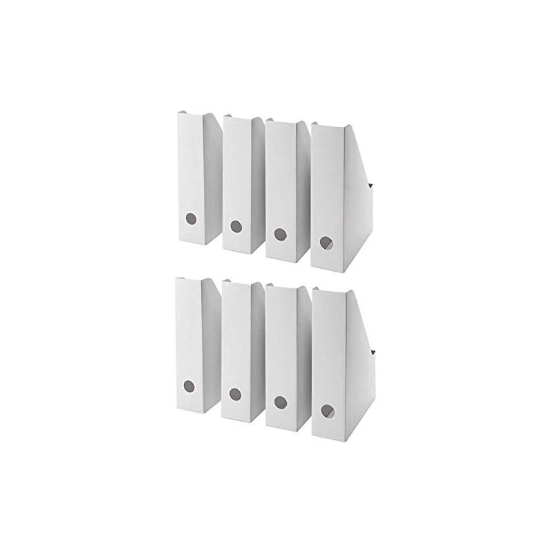 IKEA FLUNS White Magazine File White - Set of 8