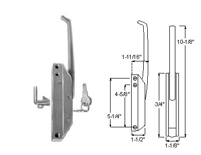 R35 Series (Component Hardware R35 Series Edgemont Latch (Straight Handle Latch Complete with Key))