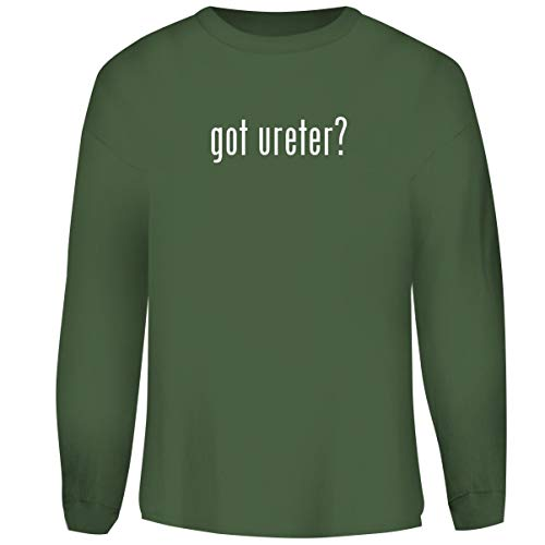 One Legging it Around got Ureter? - Men's Funny Soft Adult Crewneck Sweatshirt, Military, XX-Large