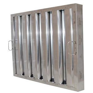 CHG FR51-2020 Exhaust Hood Grease Filter Baffle 20X20 Nfpa Approved Stainless 31200 ()