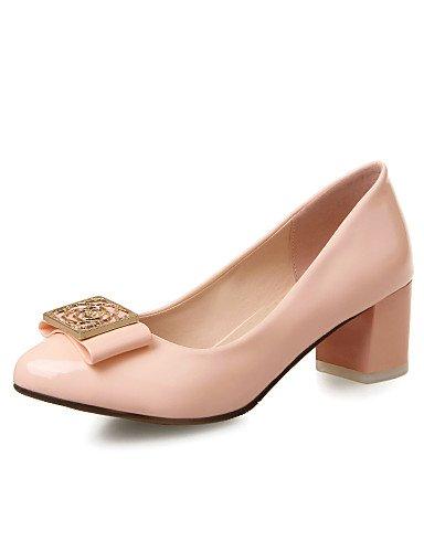 Uk8 Pink Redonda Eu39 Ggx tacones Pink Rosa us10 Patentado Robusto Casual 5 Mujer us8 tacones 5 tacón oficina Cn43 Beige Y Trabajo Punta Cn39 Uk6 Eu42 azul cuero XXqwRra4