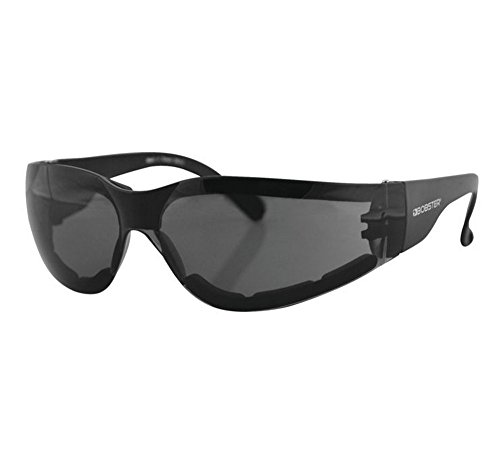 Photochromic Prescription Glasses - Bobster ESH301 Shield 3 Sunglasses, Black Frame/Anti-fog Smoked Lens