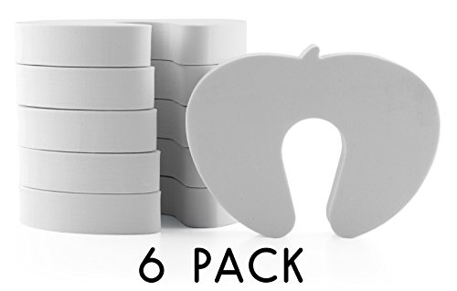 Spare Foam Bumper - White Foam Door Stoppers for Baby (6 pack), Finger Pinch Guard for Toddler/Child Safety (6 Pack)