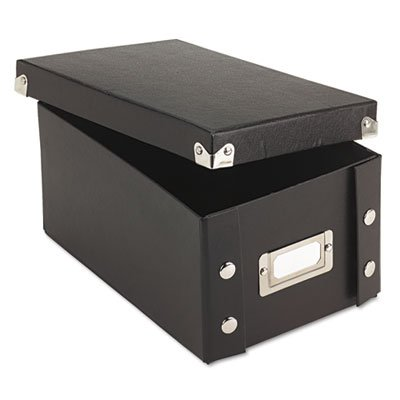 Collapsible Index Card File Box (Snap 'N Store Collapsible Index Card File Box Holds 1,100 4 x 6 Cards, Black, Sold as 1 Each)
