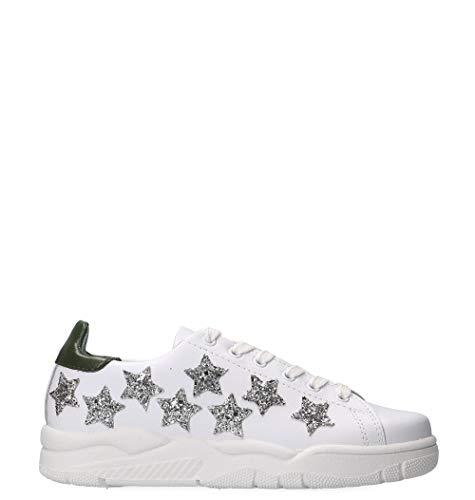 d4f049143c332c CHIARA FERRAGNI Women's Cf2255 White Leather Sneakers