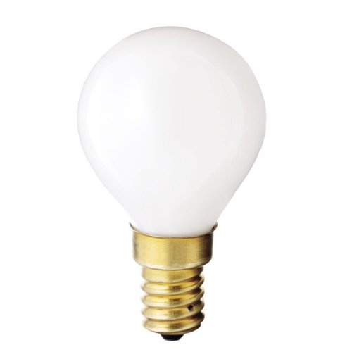 Satco S3398 130V E14 Euro Base 40-Watt G14 Light Bulb, Gloss White