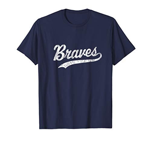 Braves Mascot T Shirt Vintage Sports Name Tee Design