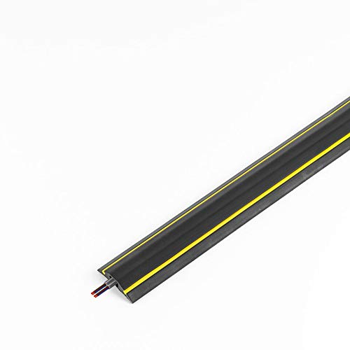chargeline Black & Yellow Cable Protector/Floor Cable Cover. Floor Cable Tidy 0.5m.1m,1.5m,2m,2.8m,3m,4m,5m,6m,7m,8m,9m Trip Protector (9m)