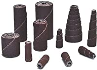 "3/8"" x 1-1/2"" x 1/8"" Aluminum Oxide 120-Grit Straight Cartridge Roll, (Package of 100)"