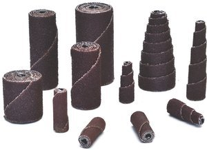 1/2'' x 1'' x 1/8'' Aluminum Oxide 80-Grit Straight Cartridge Roll, (Package of 100)