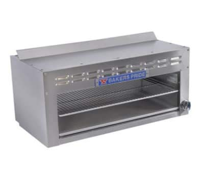 Bakers Pride BPCM-36 36 inch Gas Cheese Melter w/Infrared Burner, Stainless, LP