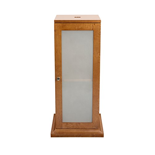 Solis Wood Pedestal Cabinet in Cinnamon 033615-F08