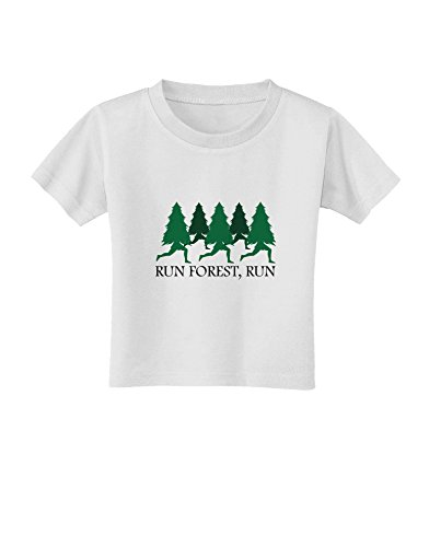 TooLoud Run Forest Run Funny Toddler T-Shirt - White - 2T]()