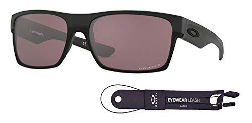 Kit Leash - Oakley Twoface OO9189 918926 60M Matte Black/Prizm Daily Polarized Sunglasses For Men+BUNDLE with Oakley Accessory Leash Kit
