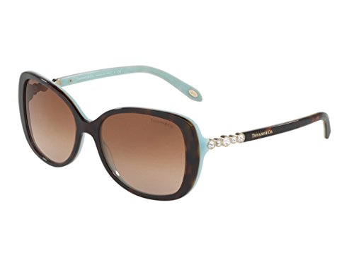 Tiffany & Co. Women TF4121B 55 Blue/Brown Sunglasses - Co And Tiffany Deals