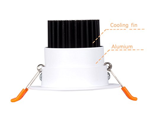 Dimmable 5W Recessed LED Downlight,Cut-Out 2.5in 60 Beam Angle 3000K Warm White Ceiling Light with Driver by SKYGROWPARD (Image #1)'