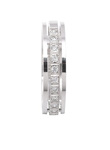 Alliance - Or blanc 18 cts - Diamant 0.15 cts - 9BEV370WD