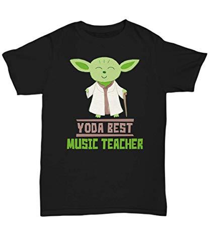 Gift for Music Teachers - Yoda Best Music Teacher T-Shirt - Star Wars Funny Shirt Present - Unisex -
