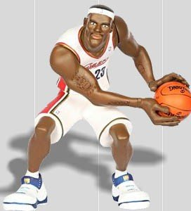 Image Unavailable. Image not available for. Color  UPPER DECK ALL STAR  VINYL LEBRON JAMES FIGURE ... 584d395c7