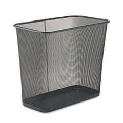 Five-Gallon Mesh Wastebasket, Rectangular, 30 Quart, 16
