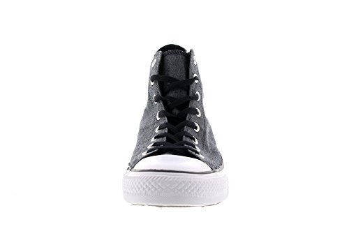 Converse Unisex-Erwachsene Chambray Hohe Sneaker Schwarz (Black/White)