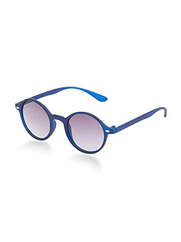 VAST UV Protection Retro Round Unisex Sunglasses (FG_8122) (ROUND/BLUE GREY)