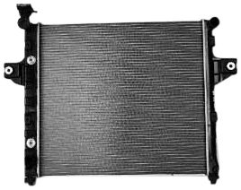 TYC 2262 Jeep Grand Cherokee 1-Row Plastic Aluminum Replacement Radiator