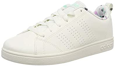 adidas Boys' VS Advantage Clean Shoes, Cloud White/Cloud White/Onix, 1.5 US (1.5 AU)