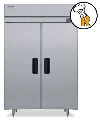 Hoshizaki FH2-SSB 55'' Professional Series Reach-In Freezer with 48.30 cu. ft. Capacity Stainless Steel Interior and Exterior EverCheck Digital Control System Door Lock and Self Clos