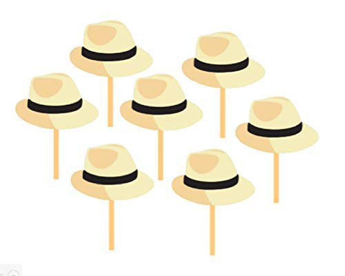 Amazon Com 50 Cuba Fedora Hat Cupcake Toppers Handmade