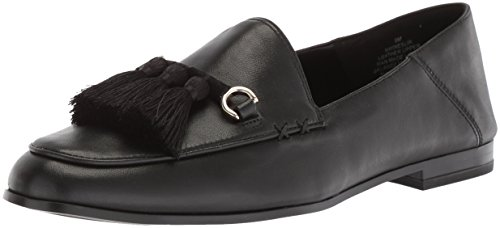 Nine West Women's Weslir Leather Loafer Flat Black Leather L2eWr