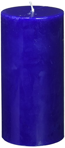 Zest Candle Pillar Candle, 3 by 6-Inch, Blue -
