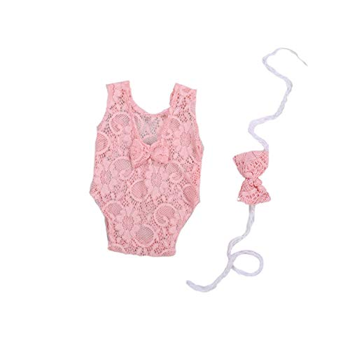 Womola Fashion Cute Newborn Baby Girls Photography Props Lace Romper Photo Shoot Props Outfits