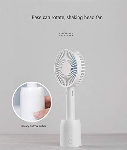 DishyKooker Mini USB Fan with 3 Speed Air Conditioning Fans Handheld Cooling Fan for Outdoor Office Blue Electronic Cell Phones Accessories for Travel//Work