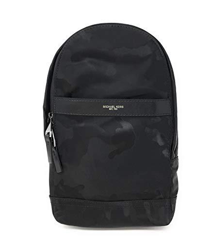 Michael Kors Kent Nylon Sling Pack (Black Camo)