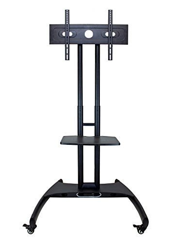 Luxor Lcd (LUXOR FP2500 Adjustable Height LED/LCD Flat Panel Mount Cart with Shelf, Gray)